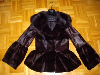 Giambattista Valli Mink Fur Jacket in Dark Brown