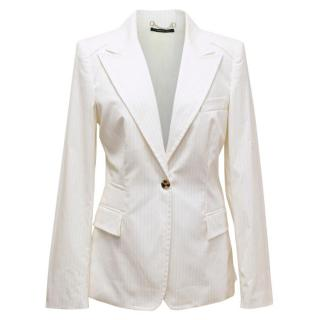 Gucci Cream Striped Blazer