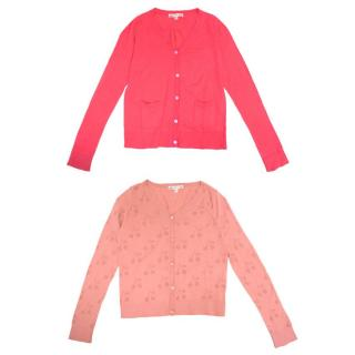 Bonpoint Bright and Hot Pink Cardigans