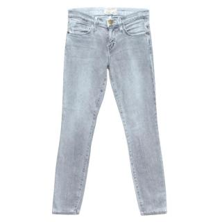 Current Elliott Light Grey Skinny Jeans