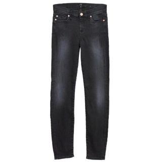 7 For All Mankind Dark Grey Skinny Jeans