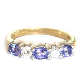 18ct Gold Tanzanite & Diamond Ring