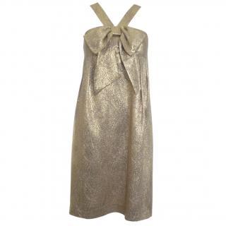 Michael Kors Collection Metallic Jacquard Silk Dress