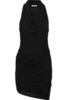 Helmut Lang Draped Crepe Dress