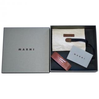 Marni resin and natural horn bracelet