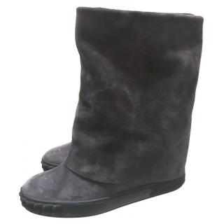 Casadei hidden wedged suede boots