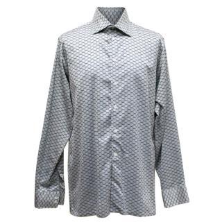 Richard James Grey Patterned Shirt
