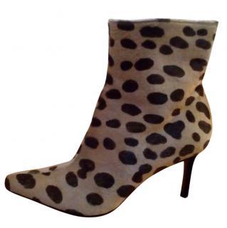 DIOR leopard print boots