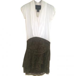 Jay Ahr Mini Dress With Floral Appliqu� Skirt