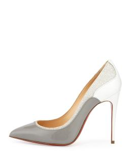Christian Louboutin so kate tucsick silver glitter