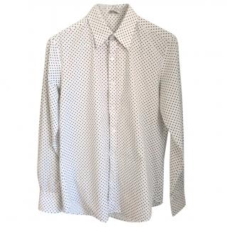 Acne polka dot cotton shirt