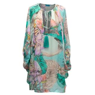 Matthew Williamson Escape Multicoloured Sheer Kaftan