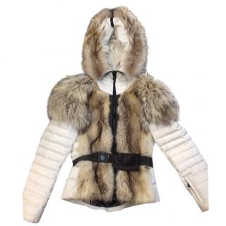 Moncler raccoon fur and down jacket