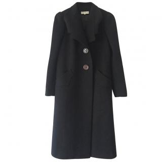 Roland Mouret Black Long Coat