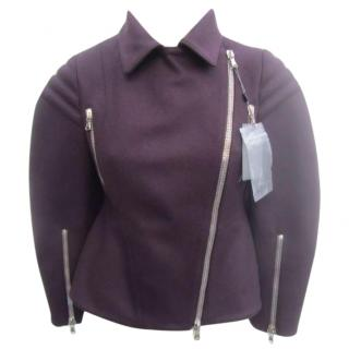 Alexander McQueen wool biker jacket