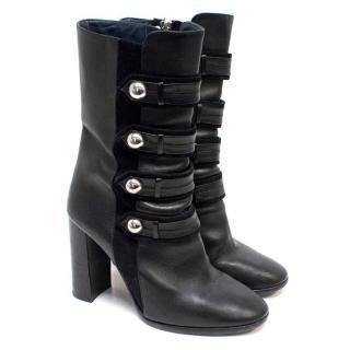 Isabel Marant Black Heeled Mid Calf Boots