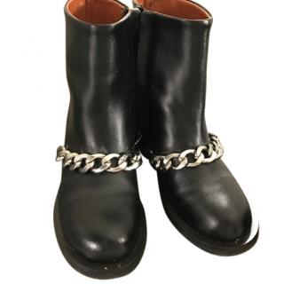 Givenchy black chain detail ankle boots