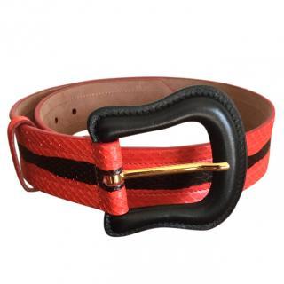 Fendi Python Belt