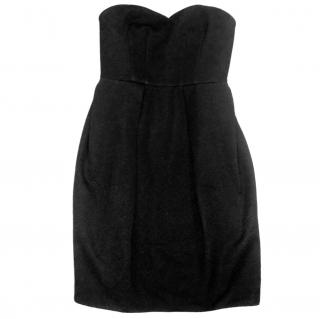 Ronny Kobo Black Strapless Dress