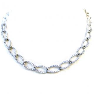 18k gold & diamonds necklace with certificate