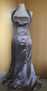 Amanda Wakely Oyster Silk Dress