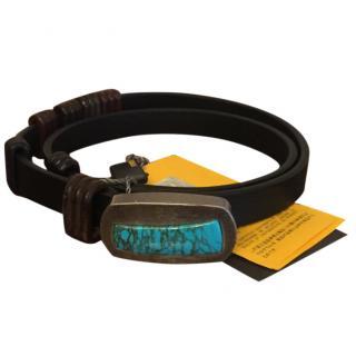 Fendi turquoise buckle belt