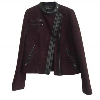 The Kooples Sport Wool Jacket with leather details size S