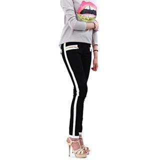 Balmain monochrome denim biker jeans