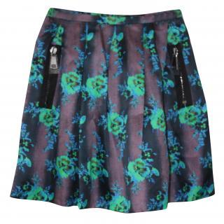 BNWT Christopher Kane silk floral skirt RRPgbp750 IT 40 (waist: 28 inches)