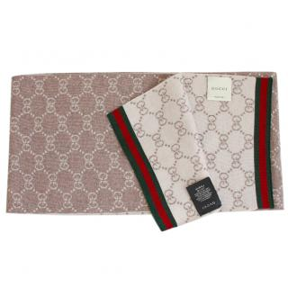 Gucci Reversible Woolen Scarf NEW