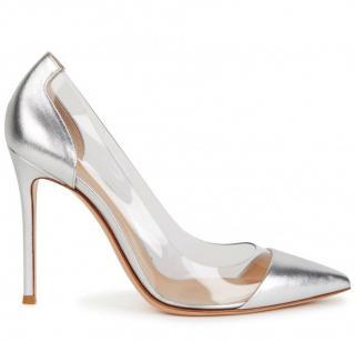 Gianvito Rossi silver /perspex pumps