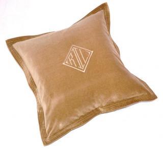Ralph Lauren Home brown velvet cushion cover