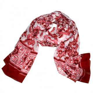 Dolce & Gabbana silk Sicily Maiolica scarf wrap