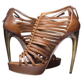 Alexander McQueen Armadillo Leather Heels It 39