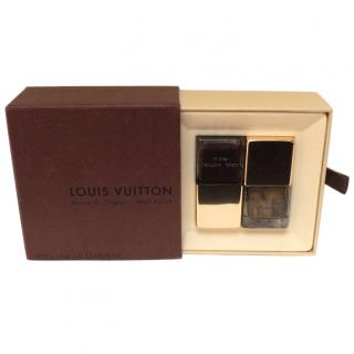 LOUIS VUITON Vernis  Ongles - Nail Polish Gold and Brown Duo