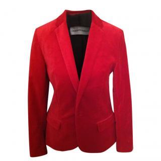 Zadig & Voltaire Red Velour Blazer
