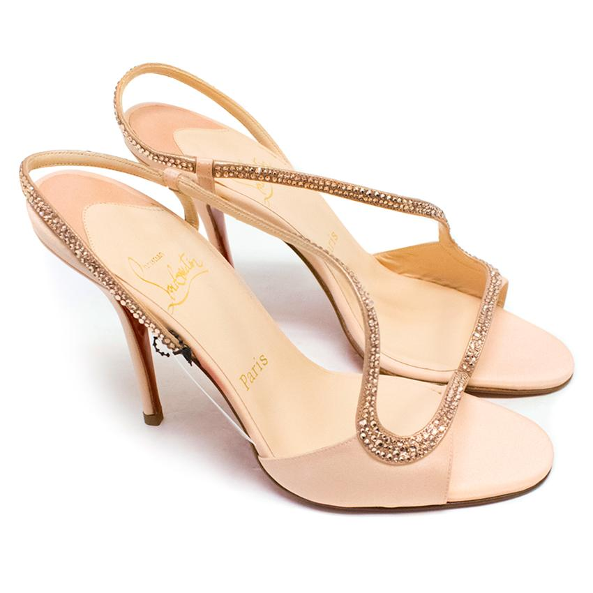 Christian Louboutin Nude 'Alter Perla' Sling Back Pumps