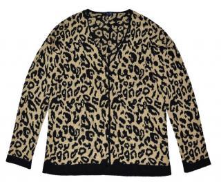 Armani Jeans leopard design Cardigan with logo
