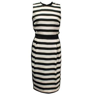 By Malene Birger Black and Cream Striped Dress