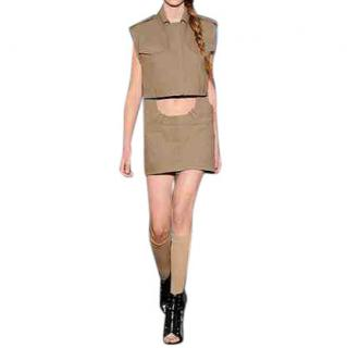 Alexander Wang Combo Khaki Two Piece Dress
