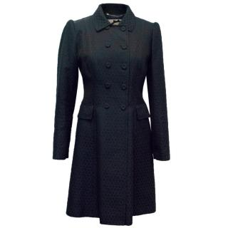 Blumarine Navy Patterned Lightweight Coat
