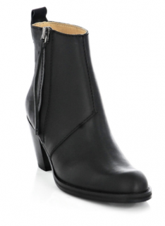ACNE STUDIOS The Pistol leather ankle boots, Size 37 Black,