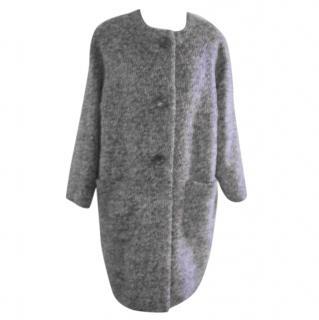 Georges Rech grey wool and Alpaca coat