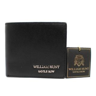 William Hunt Black Leather Wallet