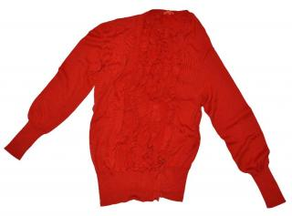 Vivienne Westwood Red Label L cardigan with ruffle and curved sleeves