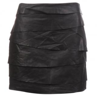 Acne Studios 'Roxy' Leather Tiered Mini Skirt