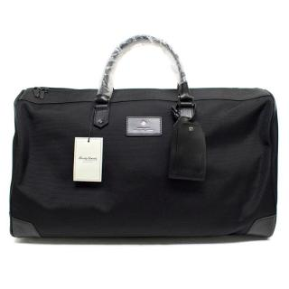 Hardy Amies Black Canvas and Leather Holdall