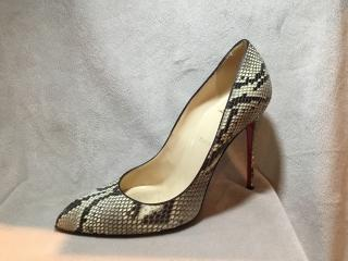 Christian Louboutin Pigalle Python leather