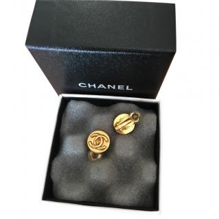 Chanel gold coloured earings