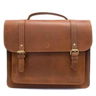 Forbes & Lewis Tan Leather Satchel